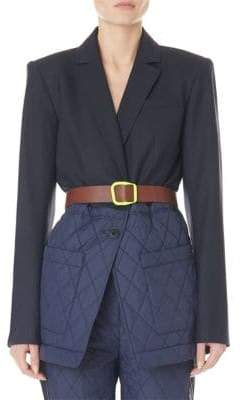 Tibi Quilted Combo Oversized Blazer