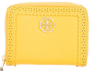 Tory Burch Tory Burch Perforated Leather Compact Wallet
