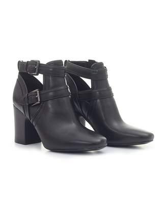 Michael Kors Blaze Buckle Detail Ankle Boots Colour: BLACK, Size: UK 3