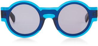 Kaleos Blue Acetate Caster Keyhole Sunglasses