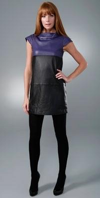 Alice + Olivia Leather Mini Dress