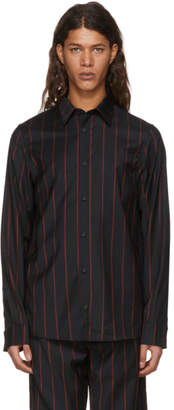 Versus Black and Red Striped Shirt