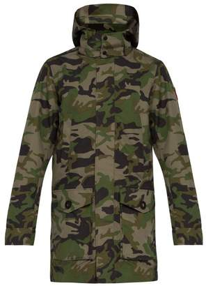 Canada Goose Camouflage Print Hooded Coat - Mens - Green