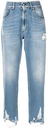 Genny distressed detail jeans