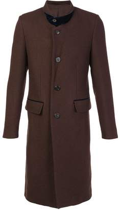 Umit Benan notched lapel mid coat