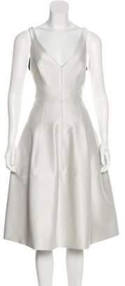 J. Mendel Sleeveless Flare Dress Sleeveless Flare Dress