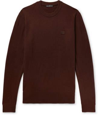 Acne Studios Nalon Face Appliquéd Wool Sweater