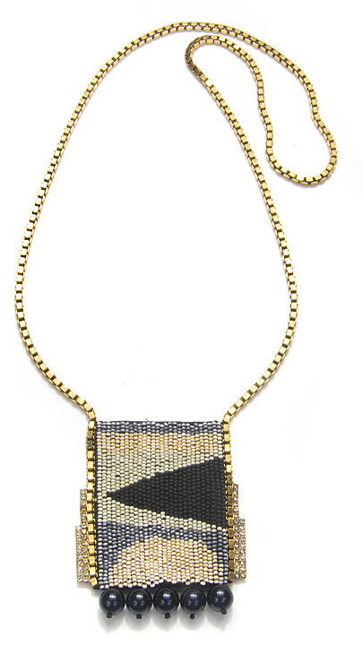 Lizzie Fortunato Jewels High Times Patch Necklace, Blue