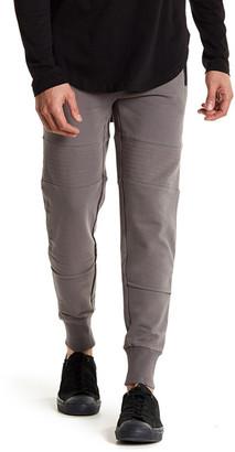 Hip & Bone Leather Trimmed Knit Jogger $154 thestylecure.com