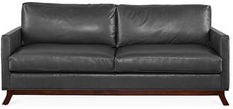 Edwards Sofa - Gray Leather - Miles Talbott