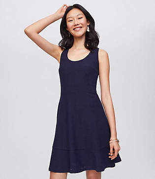LOFT Eyelet Flounce Dress