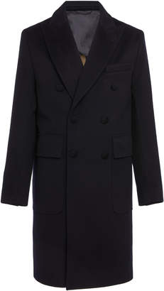 Officine Generale Double-Breasted Wool Overcoat
