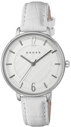 Cross [クロス 腕時計 ホワイト文字盤 カーフレザーベルト CR9053-03 メンズ 【正規輸入品】