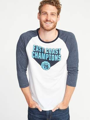 Old Navy Soft-Washed Graphic Raglan Tee for Men