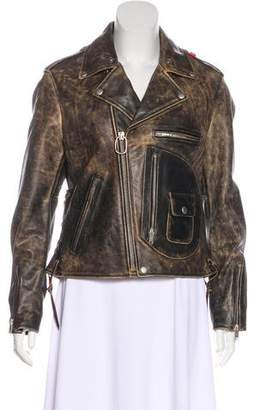 Golden Goose Embellished Biker Jacket w/ Tags