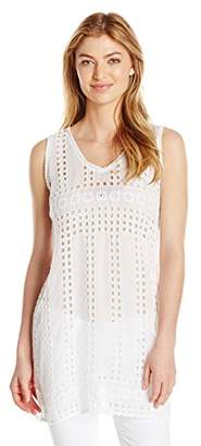 Johnny Was Women's Square Eyelet Tunic