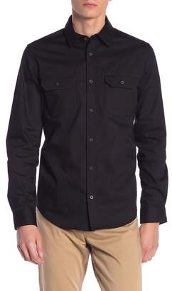 Calvin Klein Military Front Button Long Sleeve Shirt
