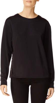 J Brand Laissez Long-Sleeve Lace-Back Top