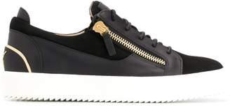 zipped low top sneakers