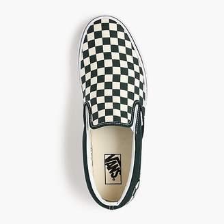 J.Crew Vans®slip-on sneakers in checkerboard