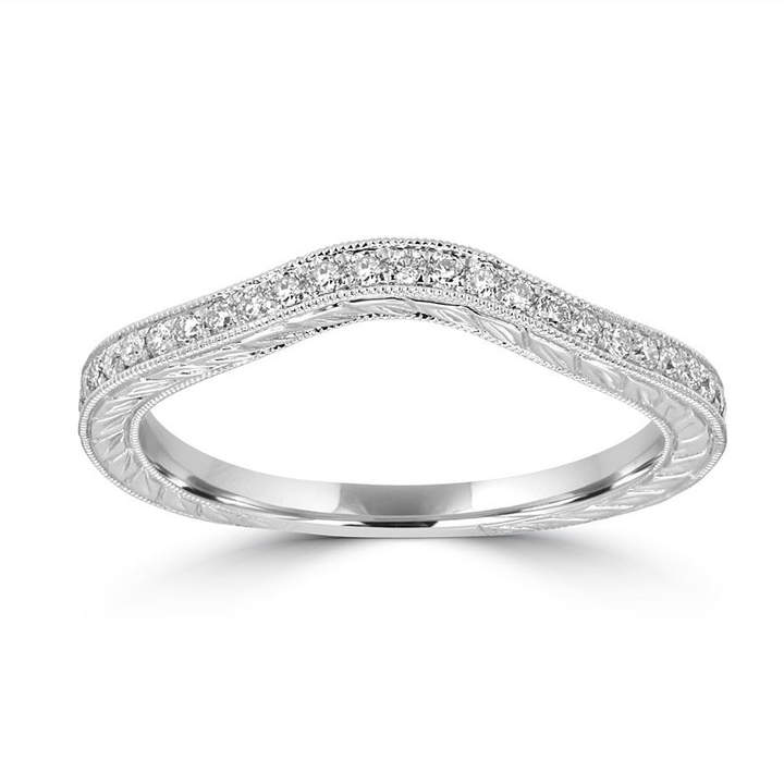 MODERN BRIDE Womens 1/5 CT. T.W. White Diamond 14K Gold Band