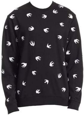 McQ Swallow-Print Sweatshirt