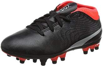 346d2fdc13f0 Puma Kids ONE 18.4 AG Jr Football Boots, Green Gecko White-Deep Lagoon