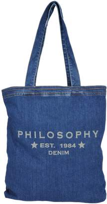 Philosophy di Lorenzo Serafini Philosophy Shopping Denim Logo Bag