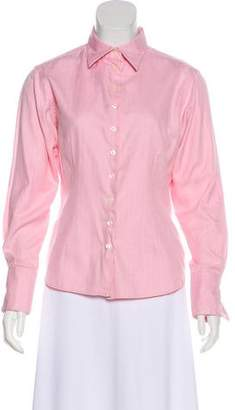 Thomas Pink Striped Button-Up Top