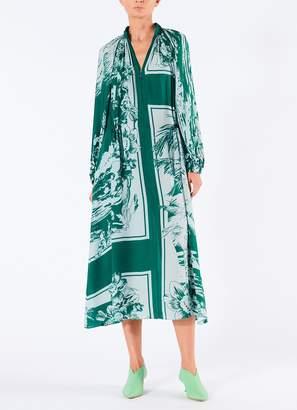 Tibi Leilani On Silk Drawstring Midi Dress