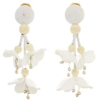 Oscar de la Renta Carnelian Falling Flower Earrings