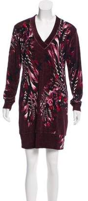 Fuzzi Velvet Digital Print Dress w/ Tags