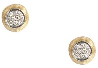 Marco Bicego Delicati Earring in 18K Yellow Gold with Pavé Diamonds