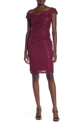 Marina Sequin Sheath Dress