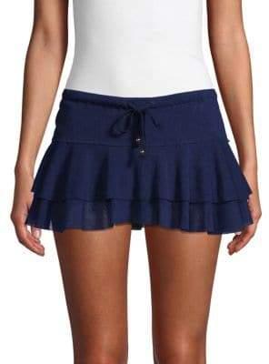 Robin Piccone Ruffle Mini Skirt