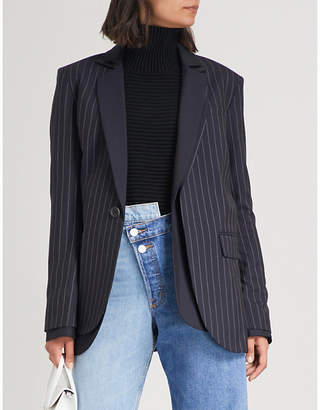 Monse Pinstripe wool suit jacket