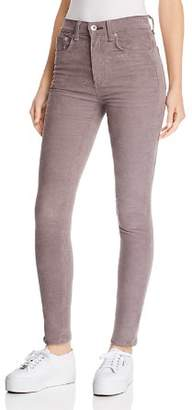 Rag & Bone High-Rise Skinny Corduroy Jeans in Nickel