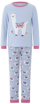 Monsoon Libby Llama Jersey Pyjama Set