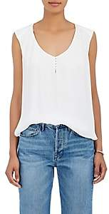 L'Agence Women's Daisy Silk Sleeveless Blouse - Ivory