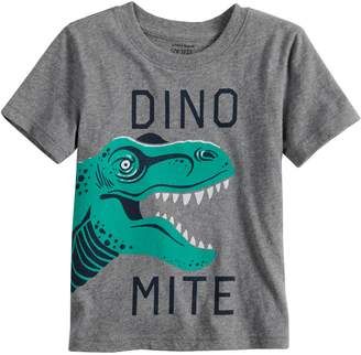 """Toddler Boy Jumping Beans """"Dino Mite"""" T-Rex Softest Graphic Tee"""