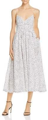 Bec & Bridge Miss Frenchie Dotted Midi Dress