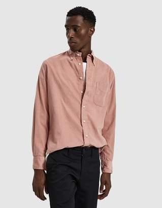 Gitman Brothers Corduroy Button Down Shirt in Pink