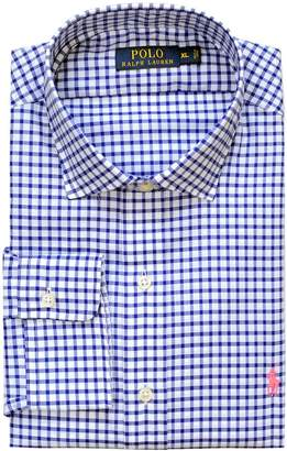 Polo Ralph Lauren Men's Standard-Fit Estate Gingham Twill Shirt, Royal/White