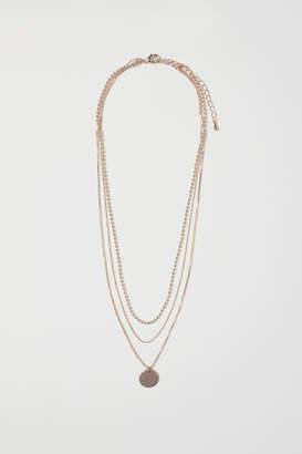 H&M Triple-strand Necklace - Orange
