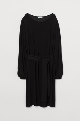 H&M Dress with Tie Belt - Black