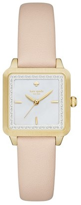 Women's Kate Spade New York 'Washington' Square Leather Strap Watch, 25Mm $195 thestylecure.com