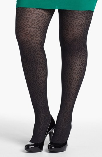 Pretty Polly 'Curves - Animal' Tights (Plus Size)