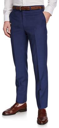 Brioni Men's Flat-Front Wool Trousers