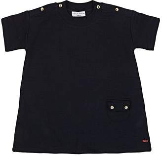 Sonia Rykiel KIDS' SNAP-DETAILED PERFORATED COTTON-BLEND DRESS