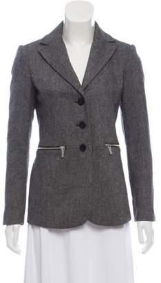 MICHAEL Michael Kors Structured Wool Blend Blazer